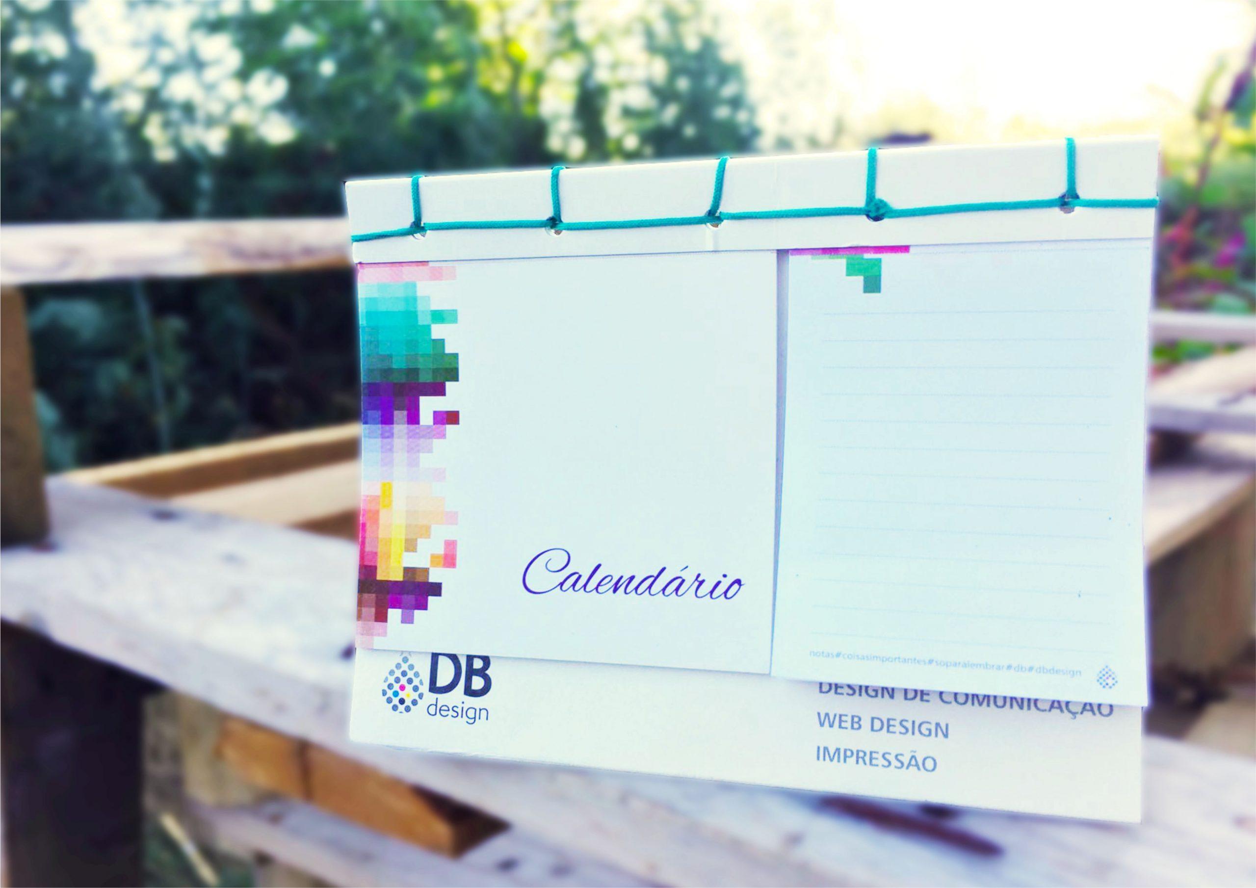 Cl 6 Calendário com costura japonesa + caixa transporte com calendário impresso para secretária