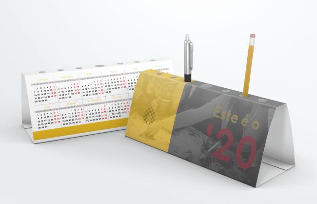 calendário porta canetas dbdesign