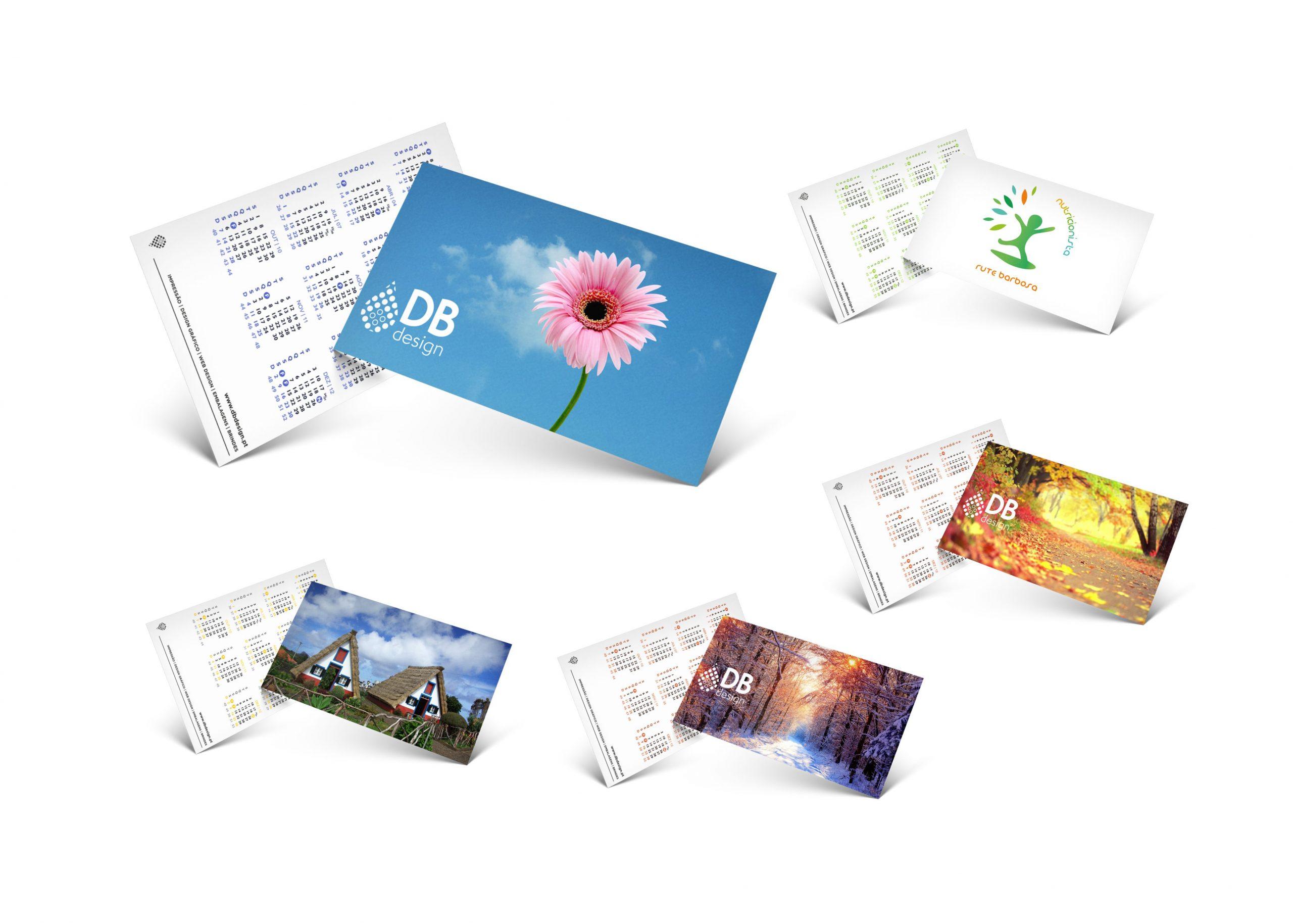 Cl 19 Calendários de bolso com imagem personalizável