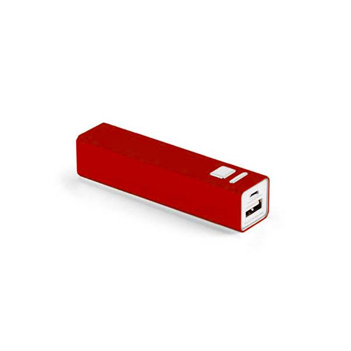 Bateria portátil. Alumínio. Bateria de lítio. Capacidade: 2600 mAh. Tempo de vida 500 ciclos. Inclui cabo USB/micro USB para carregar a bateria. 94 x 22 x 21 mm