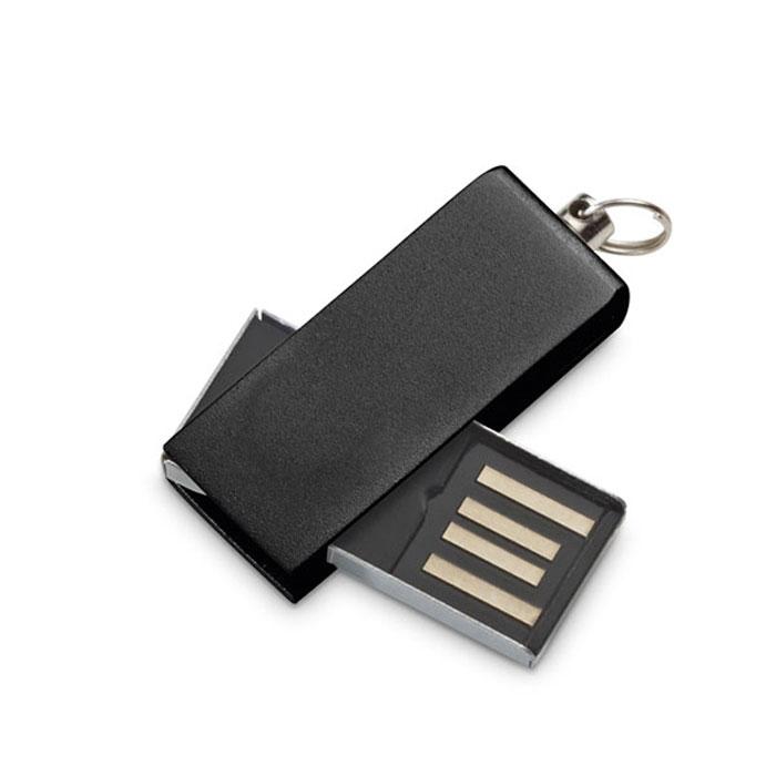Memória UDP mini, 4GB. Alumínio. Fornecida em caixa de PP. 33 x 12 x 6 mm | Caixa: 68 x 25 x 15 mm