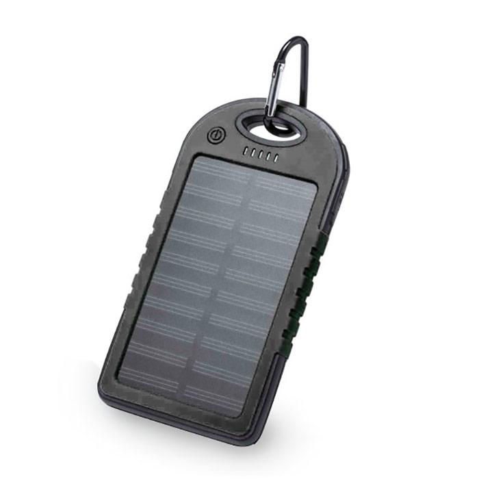 Bateria auxiliar solar. À prova de água. 4000 mAh. Cabo incluíd