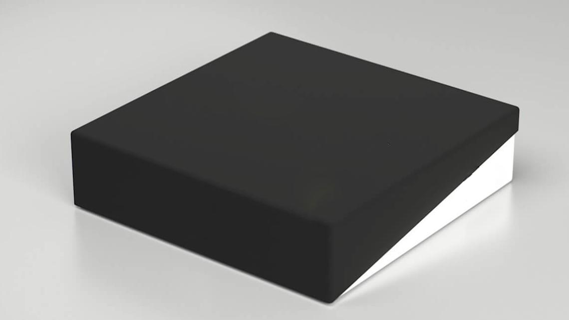 caixa com tampa diagonal