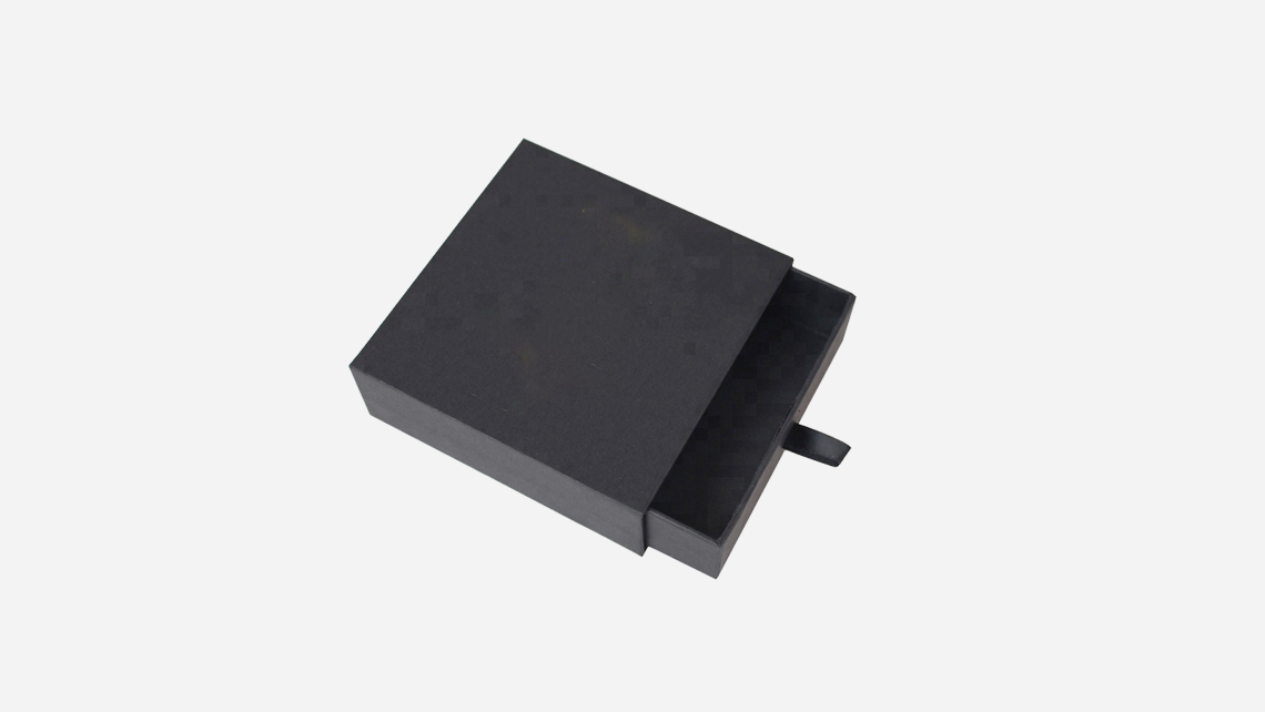 caixa gaveta preta