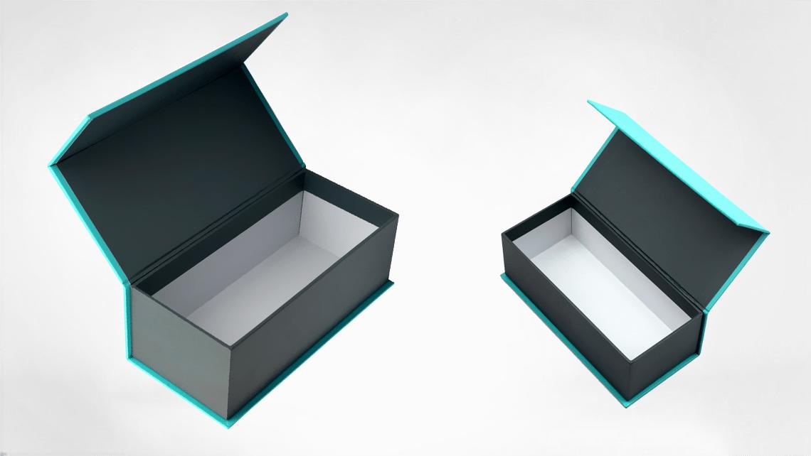 caixa para garrafas com tampa magnética
