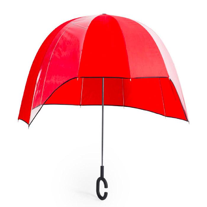 Guarda-chuva. Mãos livres. Pongee/ POE. 92 cm (diâmetro)