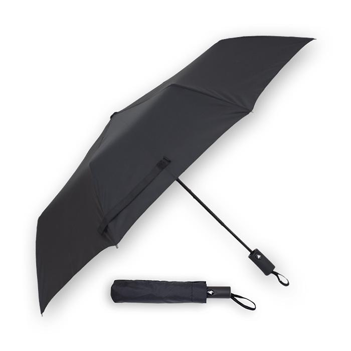 Guarda-chuva automático. 100% poliéster. 8 varas fibra. Cabo recto aborrachado. Ø 1,22m