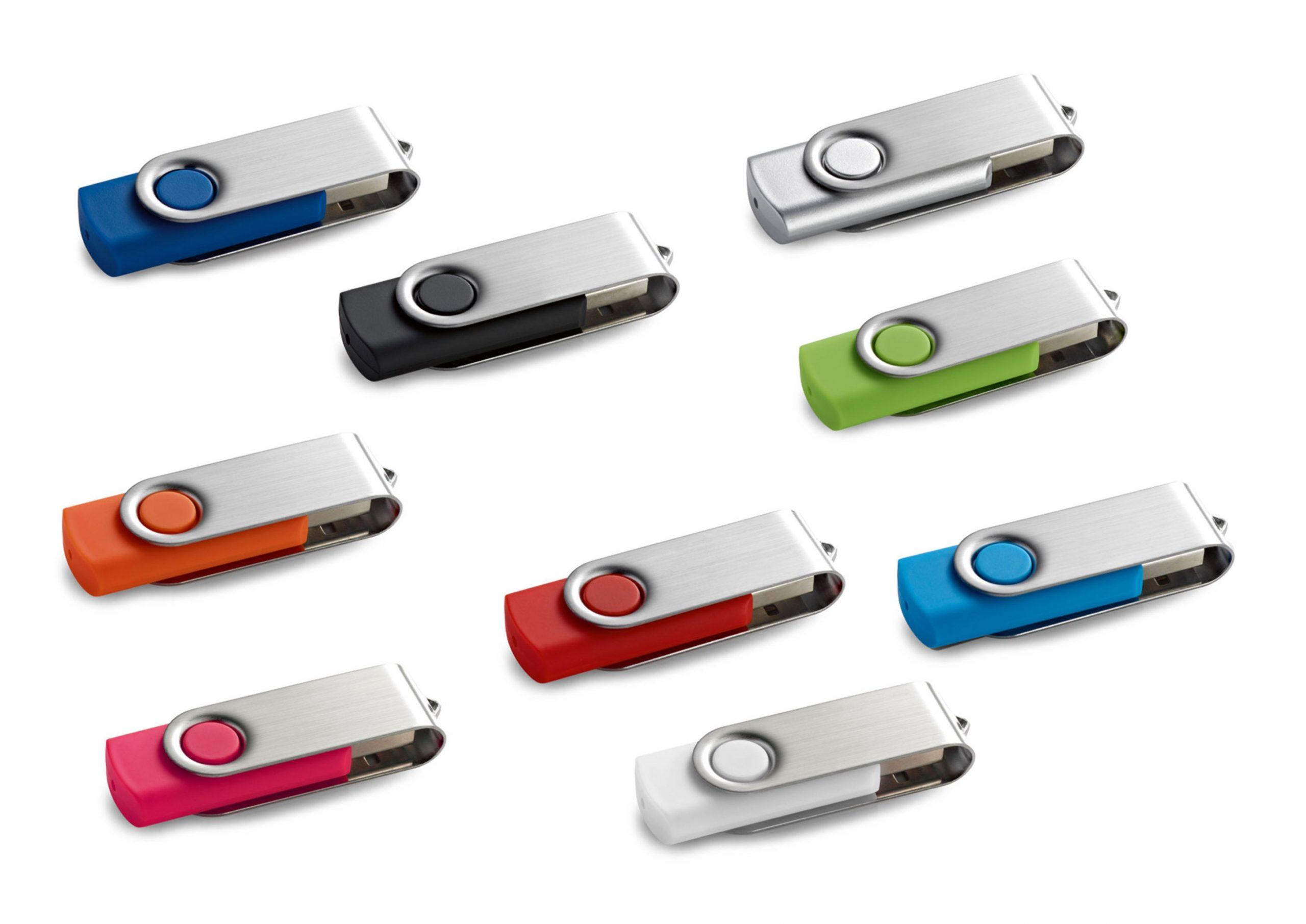 Memória USB, 4GB. 56 x 19 x 10 mm | Caixa: 86 x 45 x 20 mm