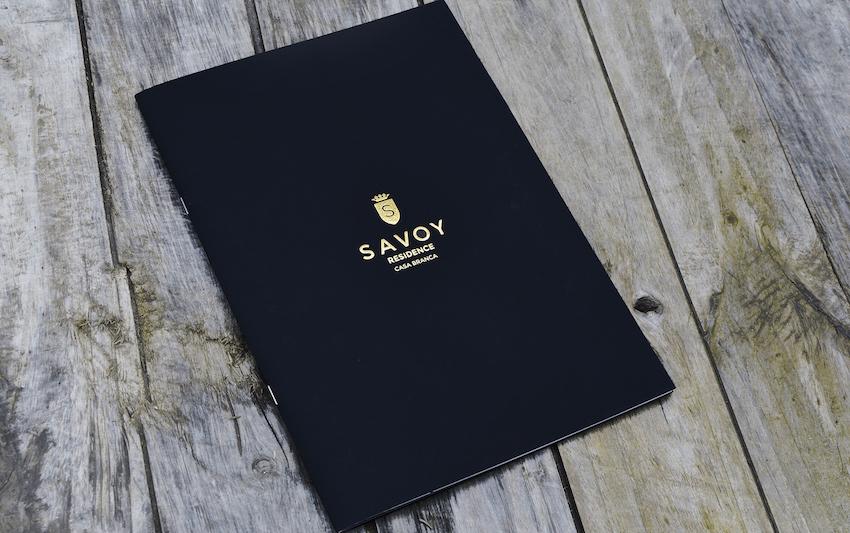 Livro Savoy com cunho ouro