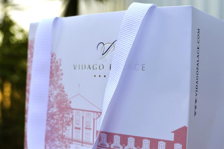Saco Vidago Palace cubo com estampagem prata