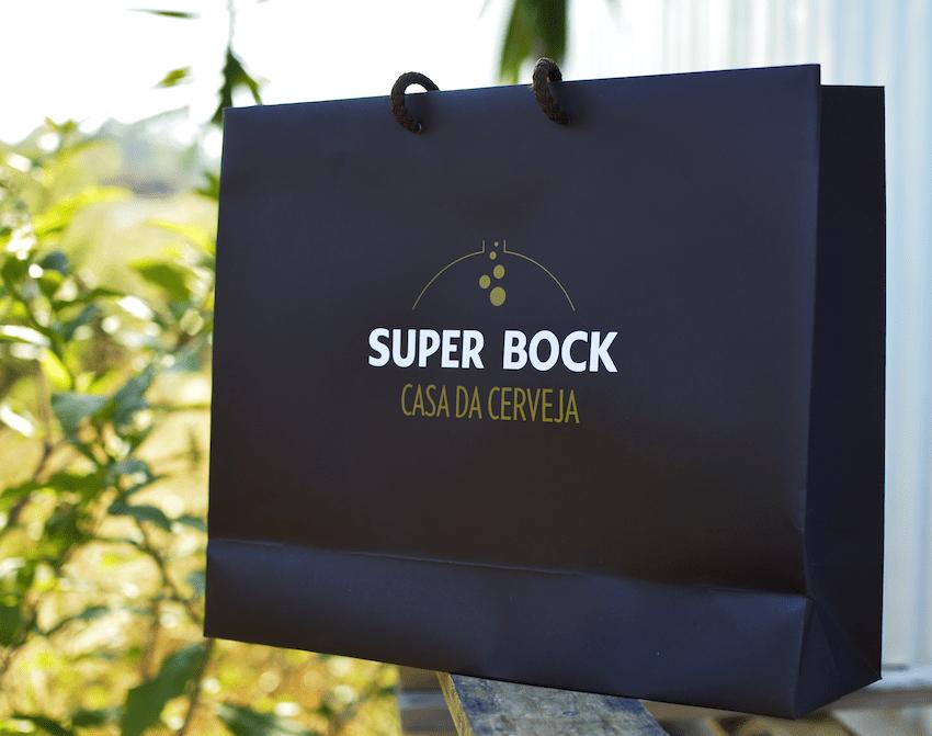 Super Bock casa da cerveja saco