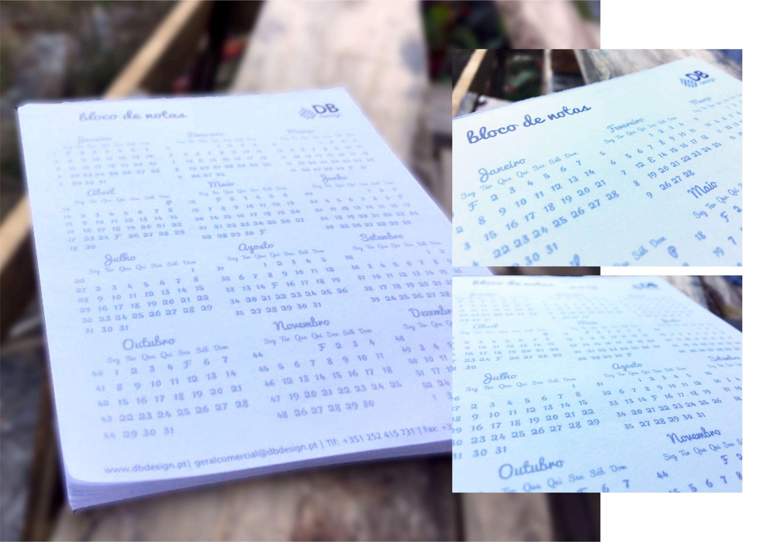 Cl 8 Bloco A5 com calendário impresso