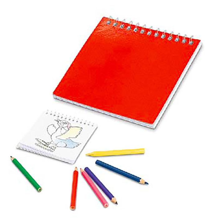 Bloco para colorir com 25 desenhos. Não inclui lápis. 90 x 90 mm