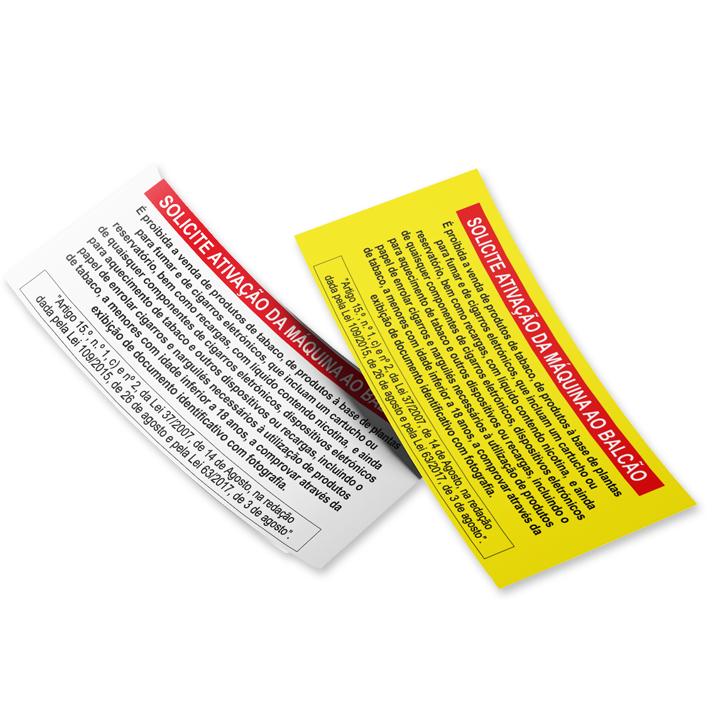 Etiquetas aviso