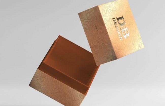 Caixa Rigida com Impressão a Dourado